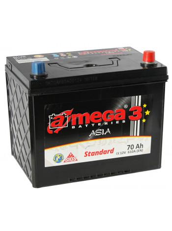 Аккумулятор автомобильный A-mega Standart 70