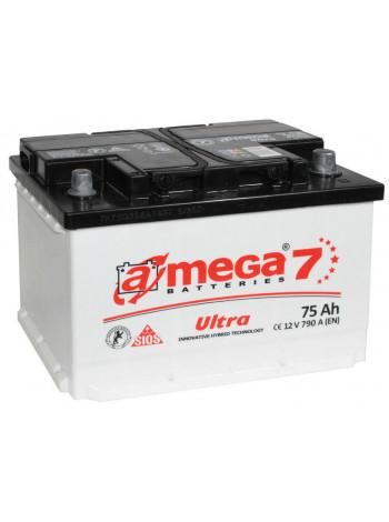 Аккумулятор автомобильный A-mega Ultra 75