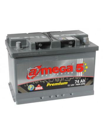 Аккумулятор автомобильный A-mega Premium 74