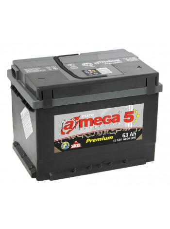 Аккумулятор автомобильный A-mega Premium 63 R