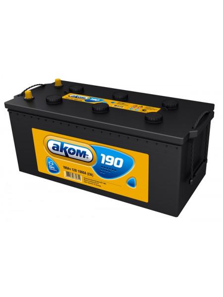 Грузовой аккумулятор АКОМ 190 Ач 1000 А