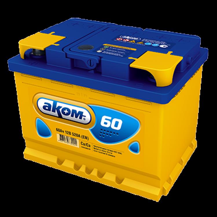 Аккумулятор АКОМ 60 Ач 520 А