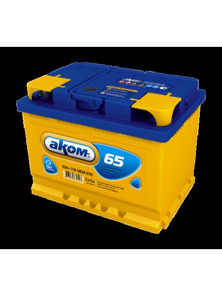 Аккумулятор АКОМ 65 Ач 580 А