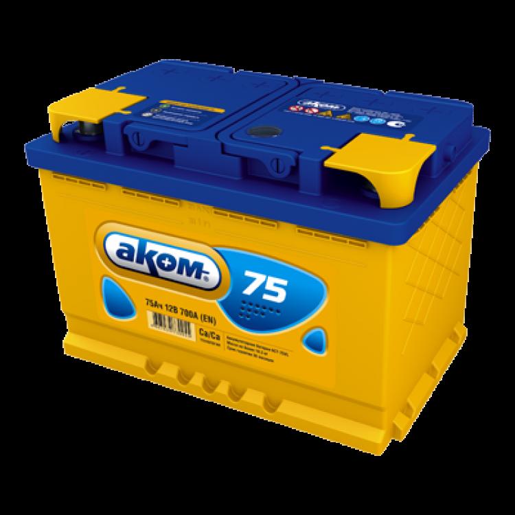 Аккумулятор АКОМ 75 Ач 700 А