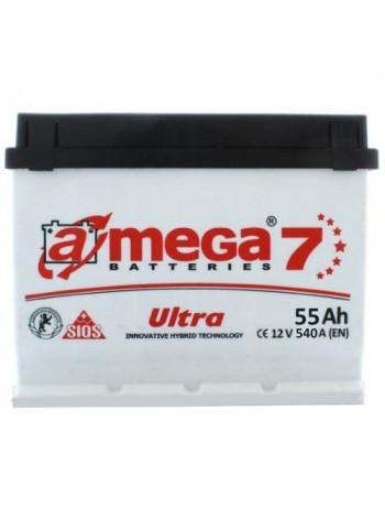 Аккумулятор автомобильный A-mega Ultra 55 R