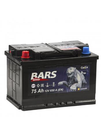Аккумулятор автомобильный Bars Silver 6СТ 75 Ah