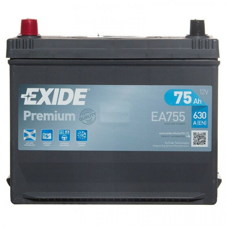 Аккумулятор Exide EA755 D26