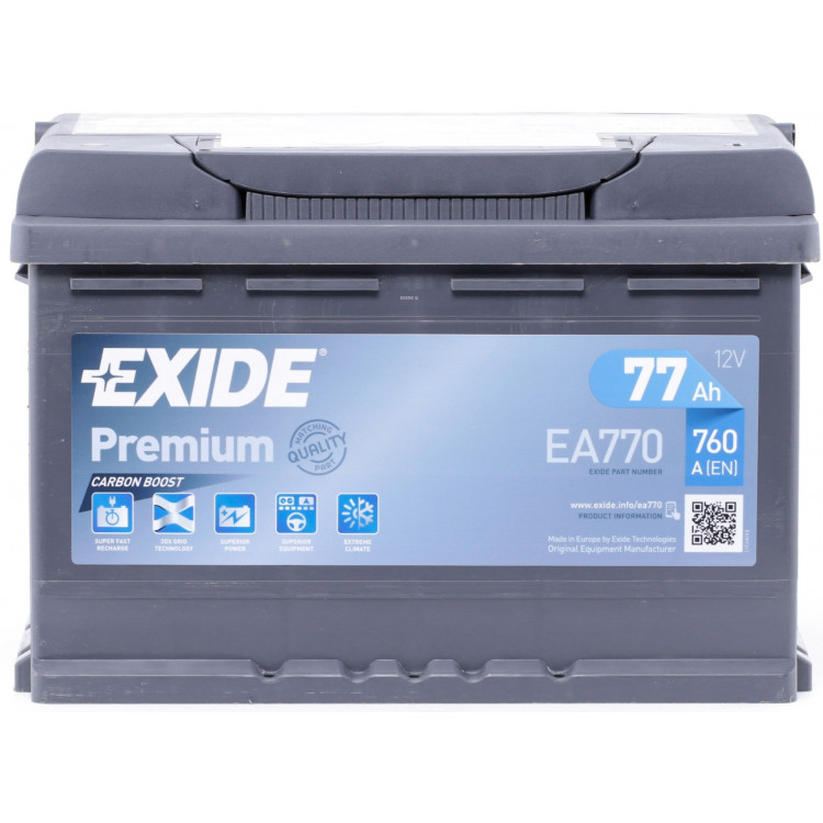 Аккумулятор Exide EA770