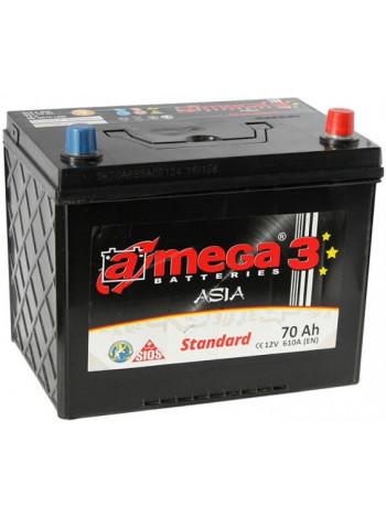 Аккумулятор автомобильный A-mega Standart 70 R+