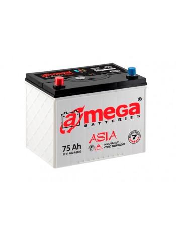 Аккумулятор автомобильный A-mega Asia 75