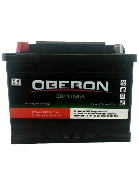 Аккумулятор Oberon 60 Ач 480 А