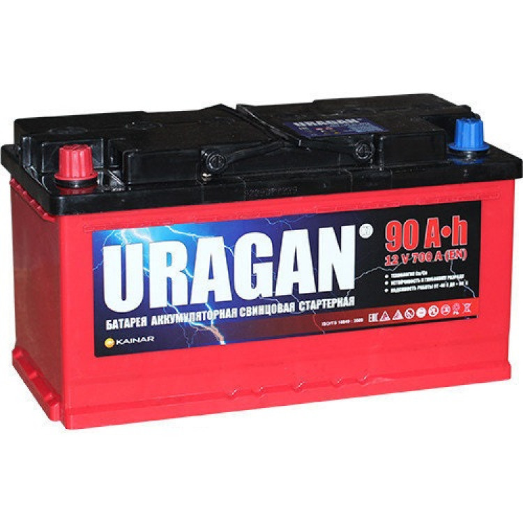 Аккумулятор Uragan 90 Ач 700 А